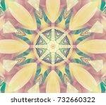 seamless gold kaleidoscope... | Shutterstock . vector #732660322