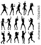 silhouettes of sexy beautiful... | Shutterstock .eps vector #73266565