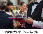 champagne at the party | Shutterstock . vector #732667702