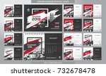desk calendar 2018 template  ... | Shutterstock .eps vector #732678478