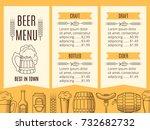 beer menu template. vector... | Shutterstock .eps vector #732682732