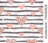 cute hearts background.... | Shutterstock .eps vector #732683626