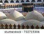 mecca saudi arabia march 2017   ... | Shutterstock . vector #732715306
