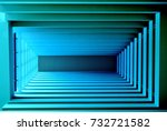 abstract perspective view of... | Shutterstock . vector #732721582