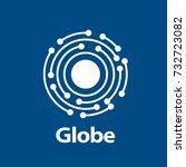 vector logo globe | Shutterstock .eps vector #732723082