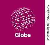 vector logo globe | Shutterstock .eps vector #732723142
