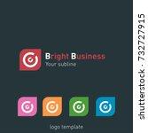creative abstract logo design... | Shutterstock .eps vector #732727915
