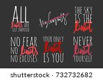 all limits are self imposed. no ... | Shutterstock .eps vector #732732682