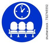 illustration of waiting room... | Shutterstock .eps vector #732745552