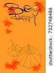 halloween boo party creative... | Shutterstock .eps vector #732748486