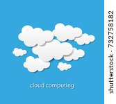 cloud computing or social... | Shutterstock .eps vector #732758182