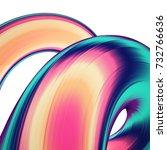 3d render abstract background.... | Shutterstock . vector #732766636