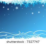 Abstract background with snowflakes. Vector - stock vector