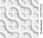 seamless lattice wallpaper. 3d...   Shutterstock .eps vector #732779122