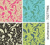 cute seamless pattern set - stock vector