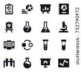 16 vector icon set   report ... | Shutterstock .eps vector #732790972