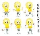Vector Set Of Six Cartoon...
