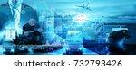 businessman trading stocks... | Shutterstock . vector #732793426