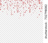 red confetti isolated on... | Shutterstock .eps vector #732798082