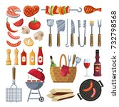 different special tools and... | Shutterstock .eps vector #732798568
