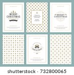 merry christmas greeting cards... | Shutterstock .eps vector #732800065