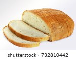 bread on a white background.... | Shutterstock . vector #732810442