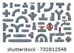 set of  details pipes different ...   Shutterstock .eps vector #732812548