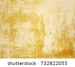 yellow and gray dirty plaster...   Shutterstock . vector #732822055