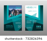 annual report brochure layout... | Shutterstock .eps vector #732826396