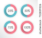set of colorful ring percentage ... | Shutterstock .eps vector #732839326