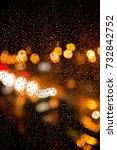 rain drops on the window. rain...