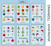 set of tasks for the... | Shutterstock .eps vector #732844462