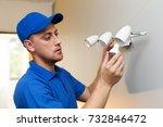 electrical maintenance  ... | Shutterstock . vector #732846472