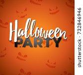 halloween party  illustration... | Shutterstock . vector #732846946