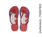 cambodia flag flip flop sandals ... | Shutterstock . vector #732847822