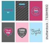 thank you gratitude feeling... | Shutterstock .eps vector #732849832