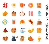 breakfast food healthy vector... | Shutterstock .eps vector #732850066