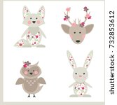 Forest Animals And Flowers....