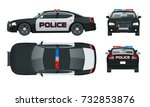 vector police car with rooftop... | Shutterstock .eps vector #732853876