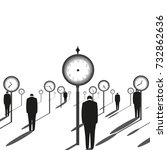 abstract clock   | Shutterstock .eps vector #732862636