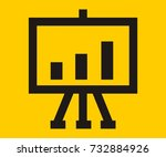 chart on canvas vector icon | Shutterstock .eps vector #732884926