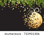 new year background with spruce ... | Shutterstock .eps vector #732901306