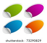vector stickers set.... | Shutterstock .eps vector #73290829