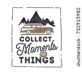 summer inspirational badge... | Shutterstock . vector #732915982