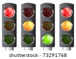 traffic lights set  vector...