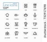 kitchen utensils   line design... | Shutterstock .eps vector #732917698