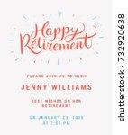 happy retirement. party... | Shutterstock .eps vector #732920638