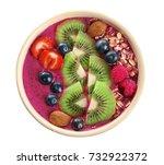 healthy breakfast with... | Shutterstock . vector #732922372