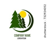 forestry company logo with fir... | Shutterstock .eps vector #732924052