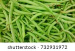 string beans top lay view at... | Shutterstock . vector #732931972